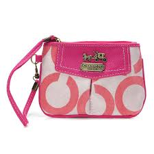 Coach Madison In Signature Small Fuchsia Wristlets BLH
