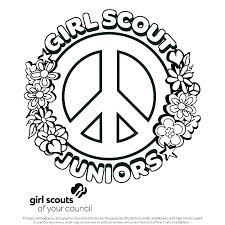 Girl Scout Flower Coloring Pages Cheapflowersinfo