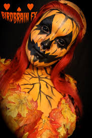 Scary Pumpkin Painting Bbfx Halloween Jack O Lantern Body Paint Tutorial Youtube