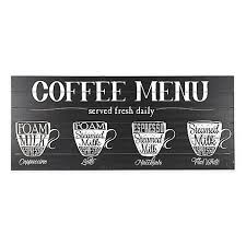 coffee menu wall art