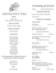 Wedding Ceremony Brochure Template For Wedding Ceremony Booklet Templates Mtu5mtm5