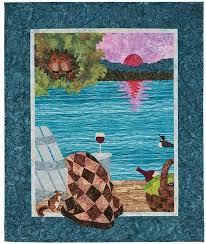 Sunset Lake Quilt Kit &  Adamdwight.com