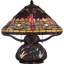 quoizel tf1851tib tiffany 2 light table lamp