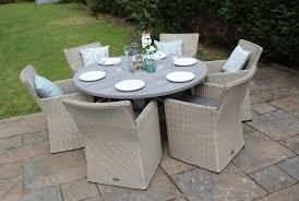 garden rattan furniture 6 seater set rattan round dining sets