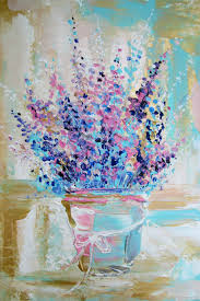 flower paintings handmade interior painting lavender in provence style house of sun