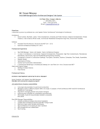 Fancy Architecture Resume Objective With Additional Architect