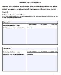 10+ Sample Self Evaluation Forms | Sample Templates
