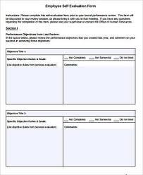 10+ Sample Self Evaluation Forms | Sample Templates