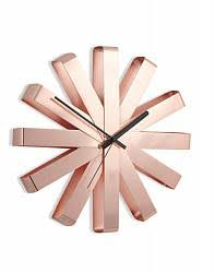 <b>Часы настенные Ribbon</b>, <b>медь</b> купить: цена на ForOffice.ru