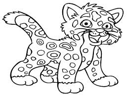 Baby Jaguar Coloring Pages Rica Is A Small The Animal Color Sheets