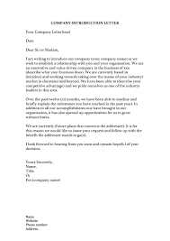 Free Business Letter Samples 34 Free Business Introduction Letters Pdf Ms Word