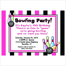 Free Printable Bowling Invitation Template Party Templates