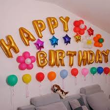 birthday decoration at home wall