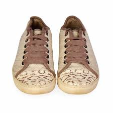 lanvin leather sneakers cream