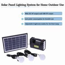 Aliexpresscom  Buy Solar Panel Lighting Kit Home DC System USB Solar Powered Lighting Systems