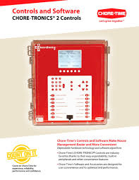Chore Software Chore Tronics 2 Controls Choretime Pdf Catalogs Technical