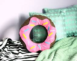 felt donut pillow