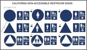 california ada bathroom requirements. California And Interior Signs Ada Bathroom Requirements B