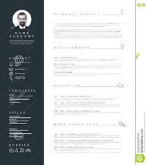 Amazing Minimalist Resume Template Word Free