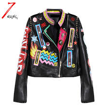 coat fashion quality fashion coat directly from china motorcycle coat suppliers 2017 fashion autumn women punk heavy metal street short leather