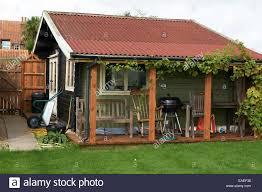 building a garden office. Garden Office Or Summer House - Stock Image Building A L
