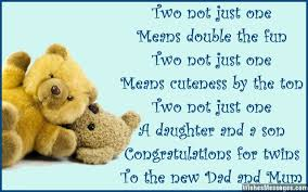 Newborn Congratulation Card Congratulations For Having Twins Newborn Baby Card Wishes