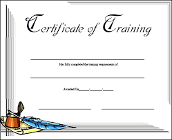 free training completion certificate templates free download training course completion certificate template of