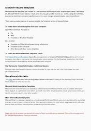 Download Resume Templates Word 2010 Best Of Microsoft Fice Letter