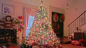 Christmas Tree near chimney picture
