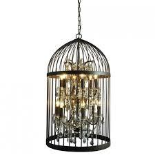 cage chandelier for unique interior lighting design ideas
