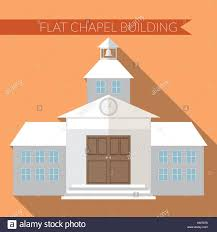 Modern Chapel Design Flat Design Modern Vector Illustration Of Chapel Or Wedding
