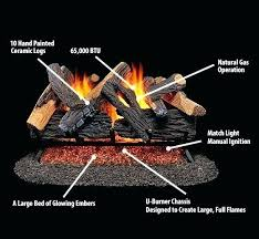 embers fireplace gas log embers forge vented natural gas fireplace log set in vent free gas