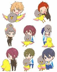free iwatobi swim club chibi. Perfect Club Free Rin Haruka And Nagisa Image In Free Iwatobi Swim Club Chibi E