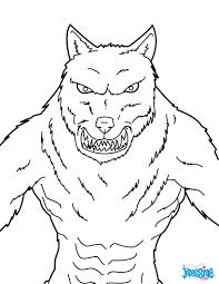 Coloriage Loup Garou Halloween