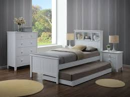 Single Bedroom Furniture Kaylee Single Bed With Box Headboard In White Furniture Place