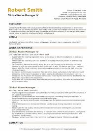 Nurse Manager Resume Adorable Clinical Nurse Manager Resume Samples QwikResume