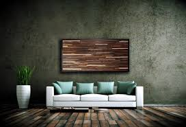 decoration wall art of recycled wood urban landscape