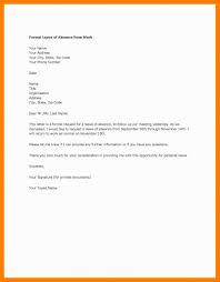 Sample Letter Of Absence From Work Due To Illness Archives