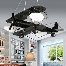 creative children s retro chandelier bedroom lamp aircraft lamps children room cartoon boy pendant light lighting ceiling lamp shade dining room ceiling