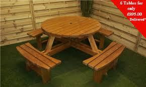 bulk 6 winchester round picnic tables