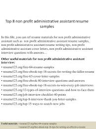 examples administrative assistant resumes administrative examples administrative assistant resumes topnonprofitadministrativeassistantresumesamples lva app thumbnail
