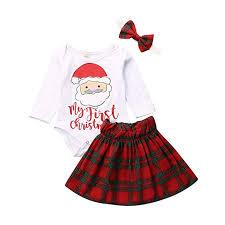 Buy Serios <b>Christmas</b> 3Pcs Outfit Set <b>Baby Girls</b> My First <b>Christmas</b> ...