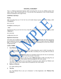 This partner agreement (agreement) is made as of (the effective date) between 3.1 partner will display the link, as rendered by company, on each of its referral websites throughout the term of. Referral Agreement Free Template Sample Lawpath