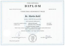 master degree ing martin kalis martin kalis master s degree diploma