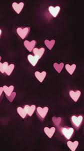 Download Bokeh, pink hearts wallpaper ...