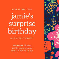 surprise birthday party invite customize 3 999 surprise party invitation templates online canva