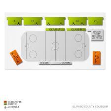 El Paso Coliseum Seating Chart Oklahoma City Blazers At El Paso Rhinos Tickets 2 22 2020