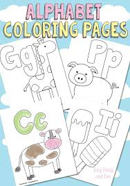 Abc Coloring Worksheets For Kindergarten Free Printable Alphabet