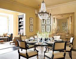traditional home magazine dining rooms. + ENLARGE. Dining Room In Gold Traditional Home Magazine Rooms L