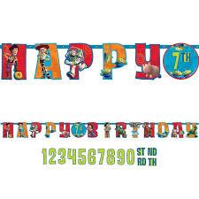Disney Toy Story 10ft Jumbo Letter Birthday Banner Custom Age Party
